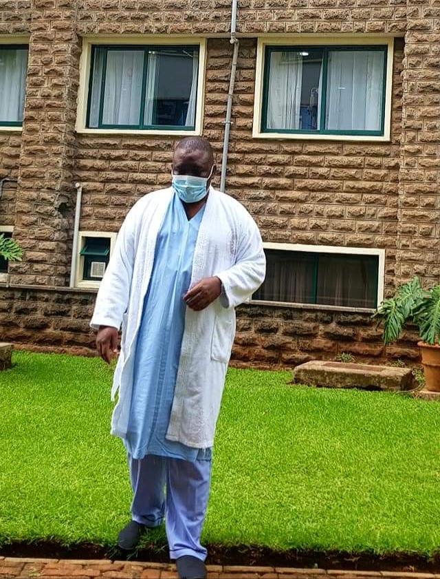 Lord Mayor Lukwago at Nairobi Hospital