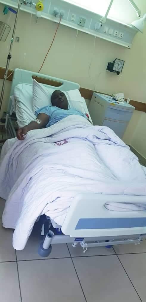 Lukwago at a Nairobi Hospital