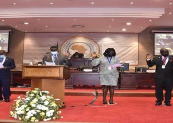 Uganda MPs take oath as members of PAP