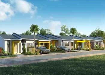 Artistic impression of some of the houses in Sentema estate
