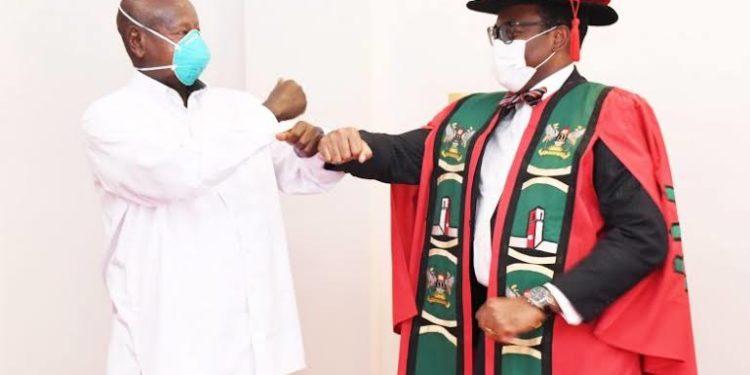 President Yoweri Museveni and the President of the African Development Bank Akinwumi Adesina