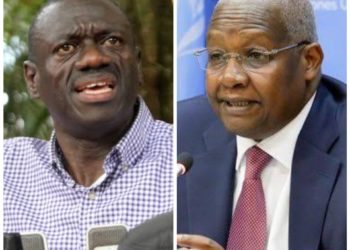 Dr Kizza Besigye and Minister Kutesa