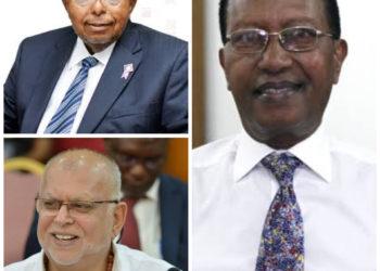 BoU Governor Emmanuel Mutebile, businessmen Sudhir Ruparelia and Amos Nzeyi