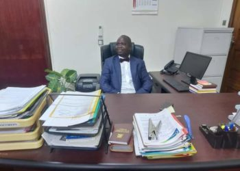 Chris Obore in his office at Parliament