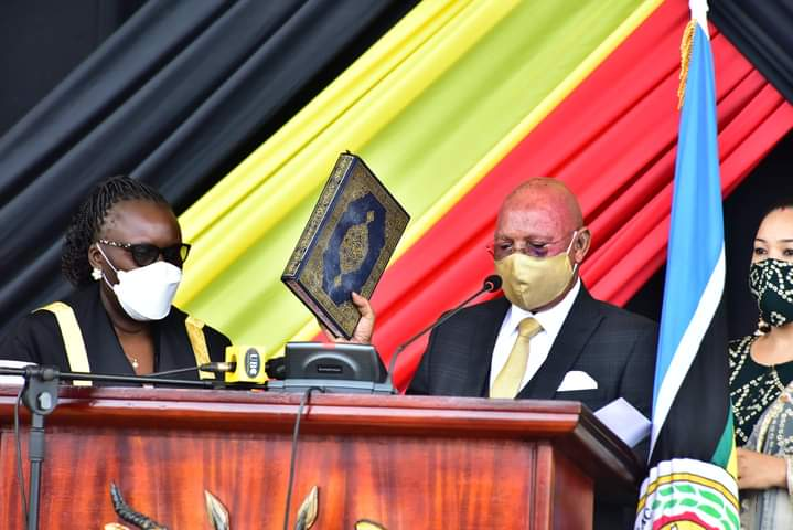 Gen Odongo swearing in as MP for Orungo County on Thursday