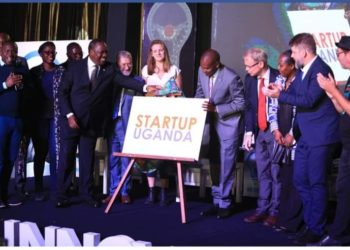 Start Up Uganda members with partners in a group photo