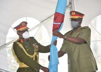 Gen David Muhoozi hands over office to new CDF Gen Wilson Mbadi