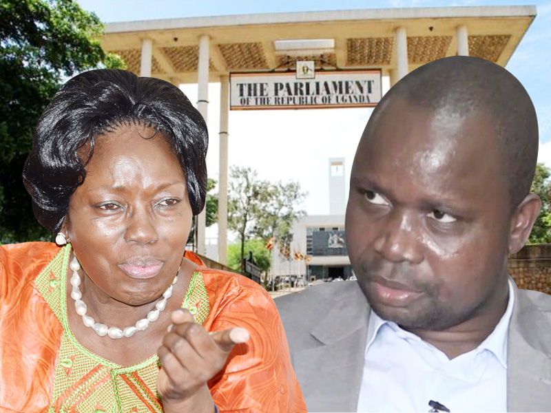 Rebecca Kadaga and Chris Obore