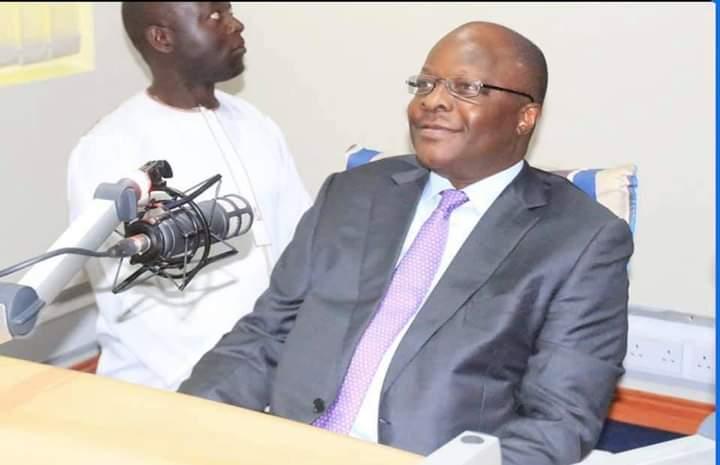 Kabaka Ronald Muwenda Mutebi in CBS studios