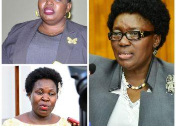 Justine Lumumba, Ruth Nankabirwa and Rebecca Kadaga