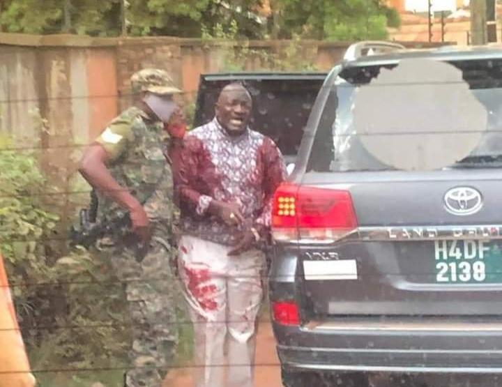 Gen Katumba Wamala minutes after surviving an assassination