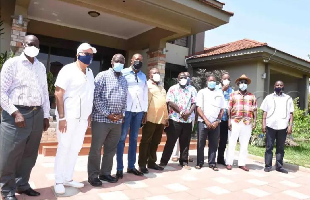 Kwagalana Group members with Gen Edward Katumba Wamala