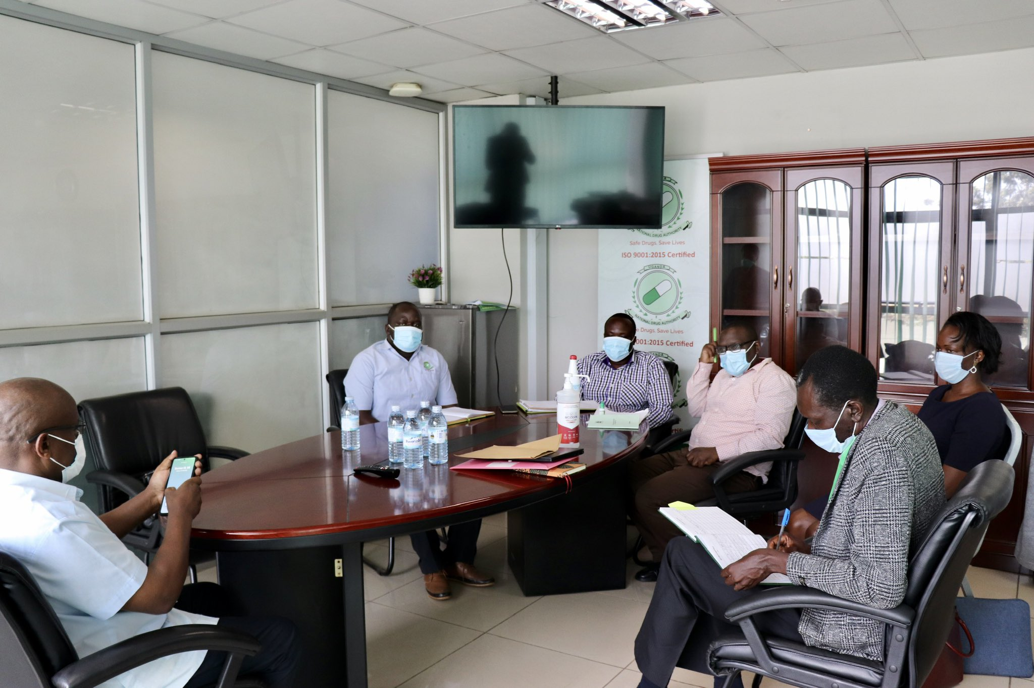 NDA meets with a team from Jena Herbals (U) Ltd led by Prof. Patrick Ogwang on Monday