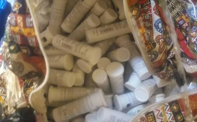 Some of the impounded drugs