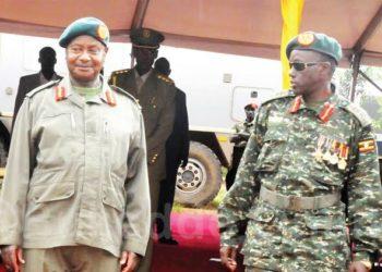 President Yoweri Museveni and Gen Elly Tumwine