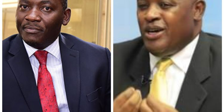 LOP Mathias Mpuuga and Information Minister Chris Baryomunsi
