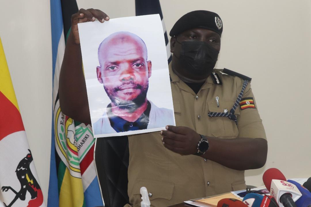 Fred Enanga displays face of terror leader Bukenya