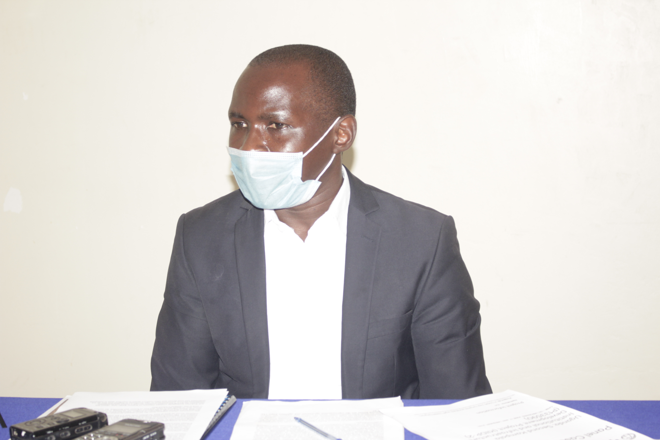 Jeff Wokulira Ssebaggala, Country Director of Witness Radio addressing the media last week