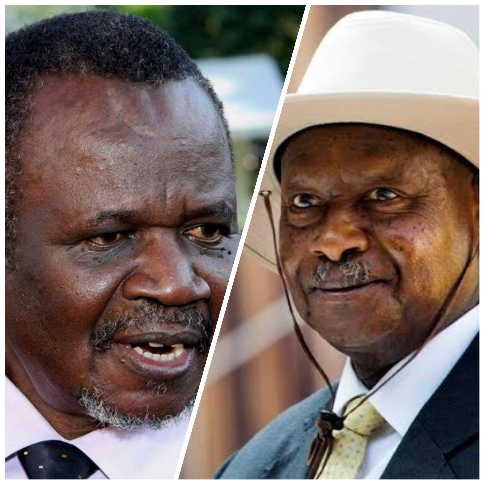 The late Aggrey Awori and President Museveni