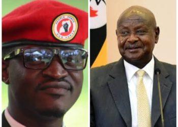 Moses Bigirwa and President Museveni