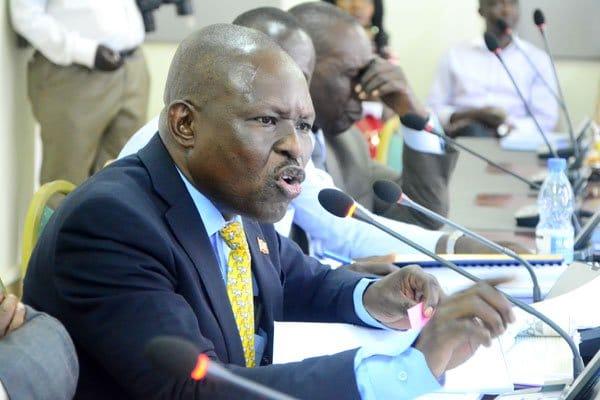 DAPCB Executive Secretary George Williams Bizibu appearing before Cosase a few months ago