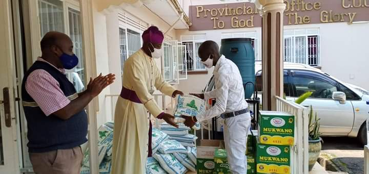 Archbishop Kaziimba Mugalu flags off distribution of Covid-19 relief food items to Clergy, Church staff