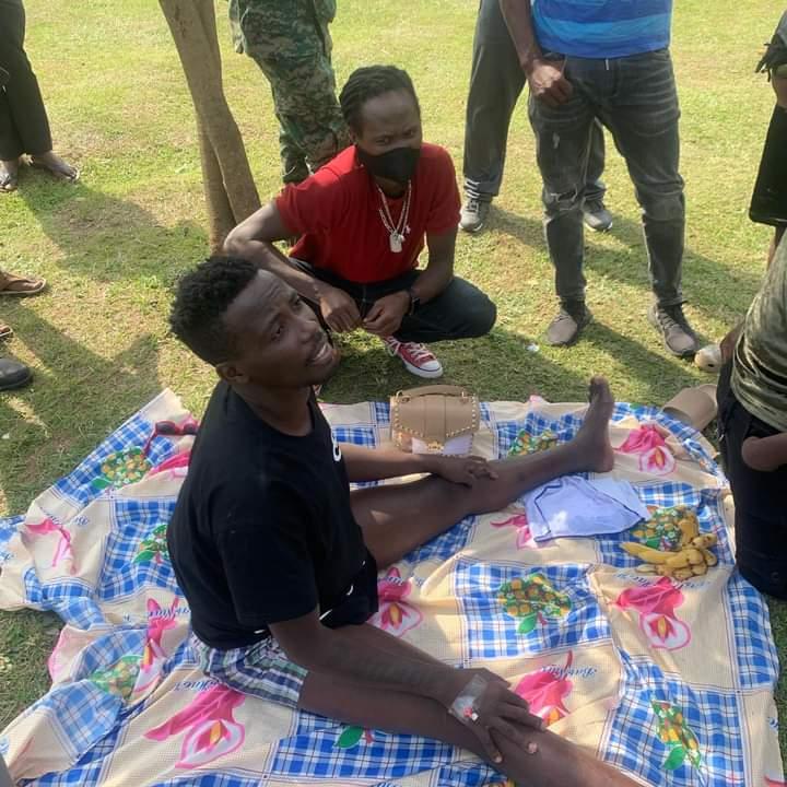 Lil Pazo at Bombo Military hospital