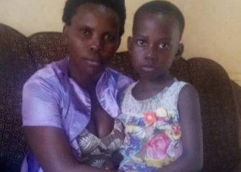 Jovia Namagembe with her child