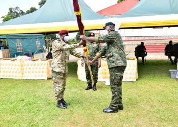 Gen Muhoozi Kainerugaba officially hands over office as SFC Commander