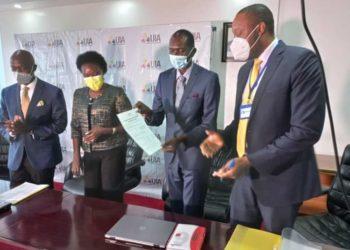 Prof Ogwang meets UIA officials