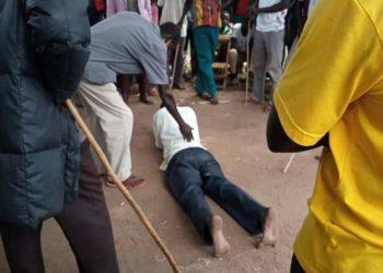 Oluka being punished