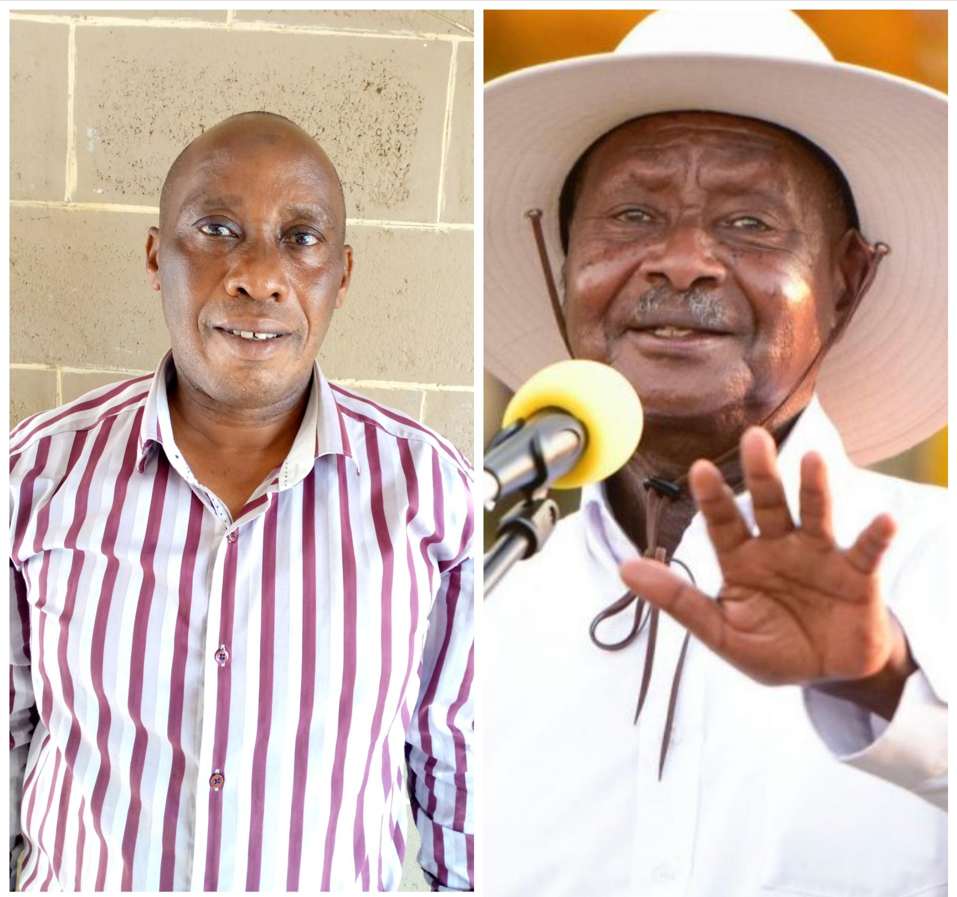 Buvuma Deputy RDC Juma Kigongo and President Museveni