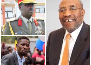 Gen David Muhoozi, Bobi Wine and Dr Ruhakana Rugunda