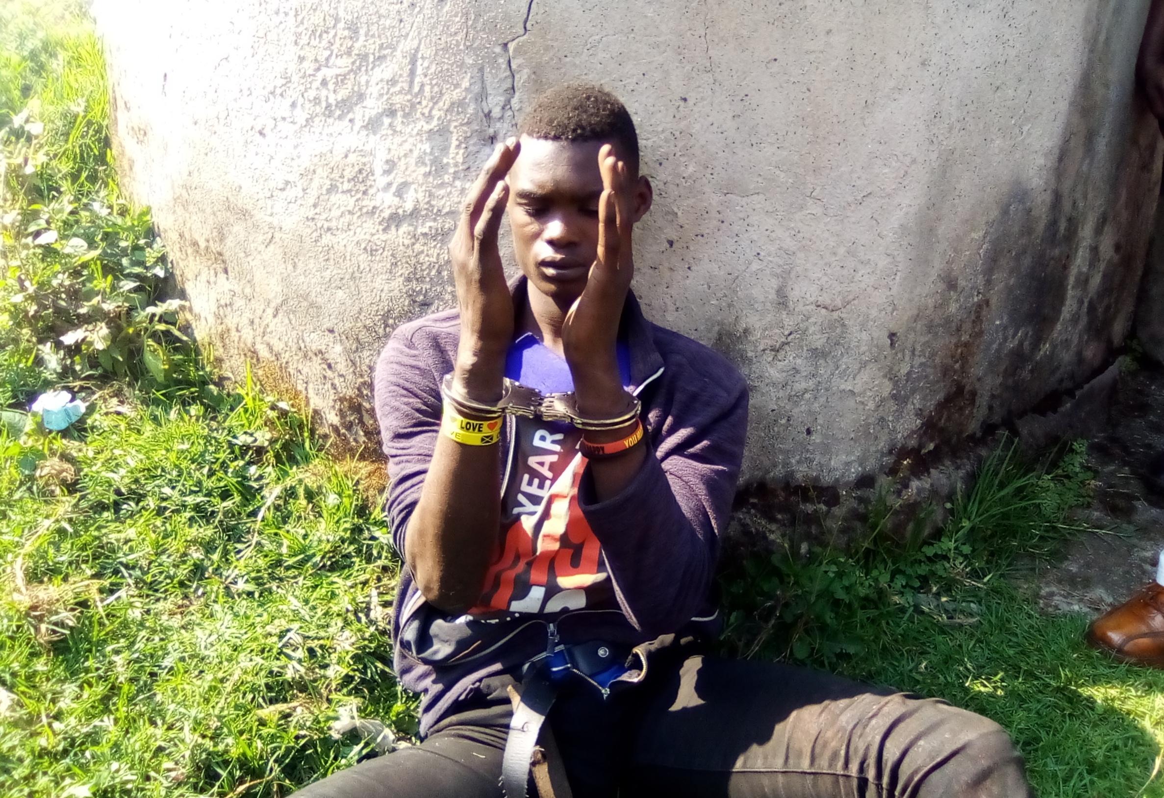 Turinayo Gerald, the suspected thief