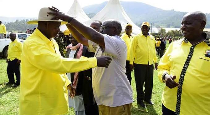 Fr Gaetano and President Museveni