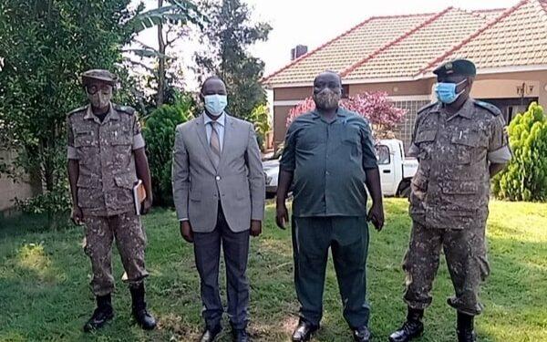 MP James Kaberuka with UWA officials