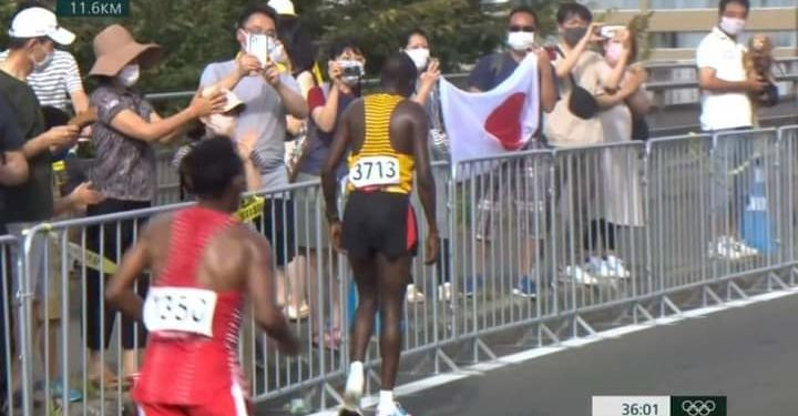 Uganda's Kiprotich did not finish the race