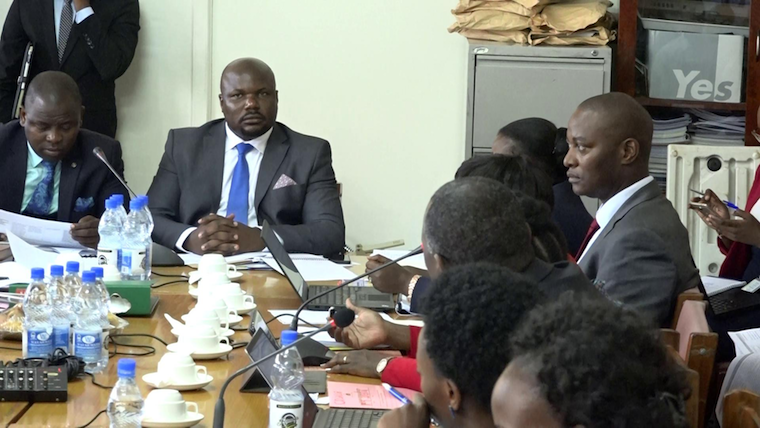 Former COSASE Chairperson Mubarak Munyagwa chairing a meeting