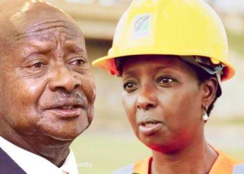 President Yoweri Museveni and UNRA ED Allen Kagina