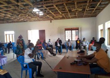 MP Moses Kamuntu Mwongyera meeting Emyooga SACCO leaders in Rubanda West