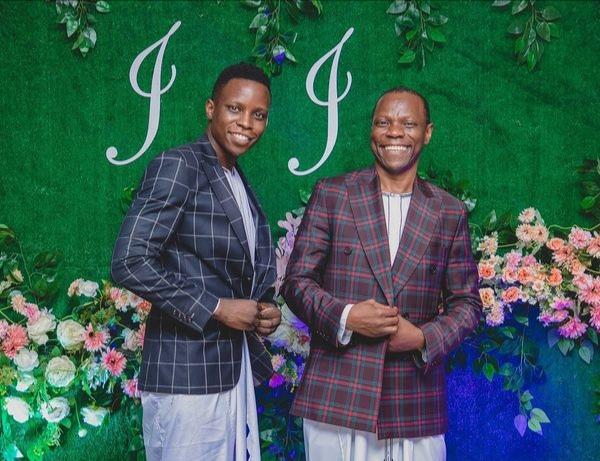 Pastor Jackson Senyonga with his son Josh