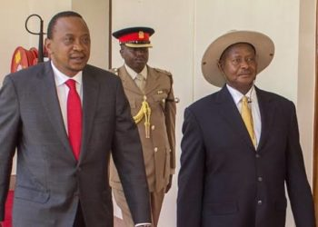 Presidents Uhuru Kenyatta and Yoweri Museveni