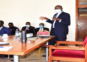 Dr Idro making a presentation to the Committee on Health