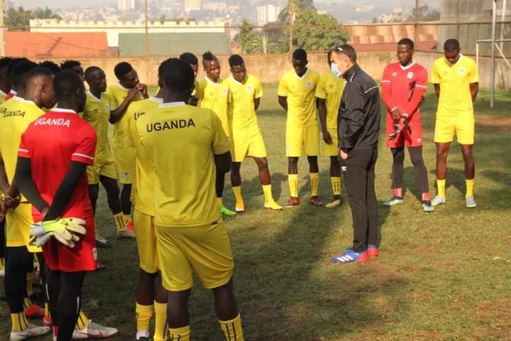 Coach Micho with Uganda Cranes Players