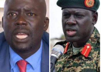 Odonga Otto and the late Maj Gen Paul Lokech
