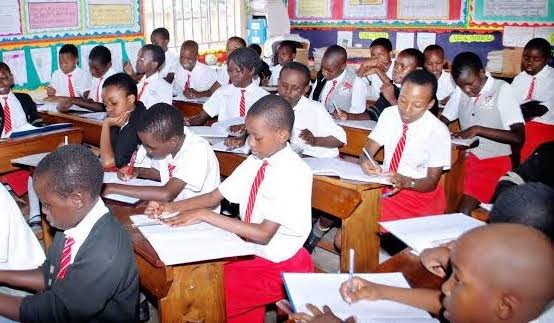 Primary School pupils in class