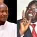 President Yoweri Museveni and FDC president Patrick Amuriat