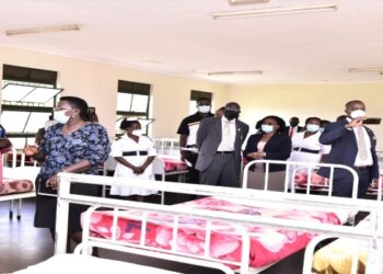 MPs and Butabika National Referral Mental Hospital staff touring a ward at the facility on Wednesday, 15 September 2021
