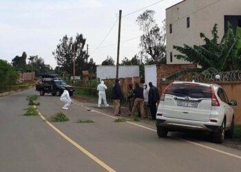 Crime scene where Agaba was shot from
