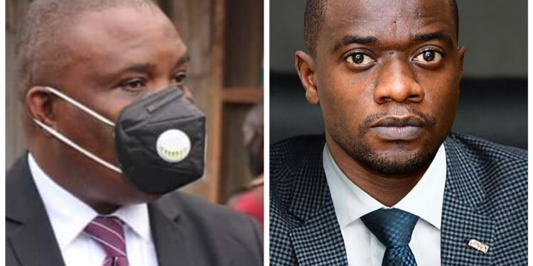 Lord Mayor Erias Lukwago and businessman Haruna Sentongo
